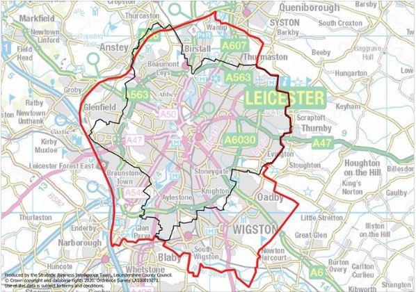 Leicester Lockdown Map June 2020
